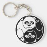 Panda Yin Yang Keychain