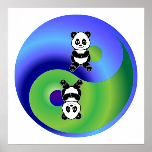 Panda Yin Yang Posters