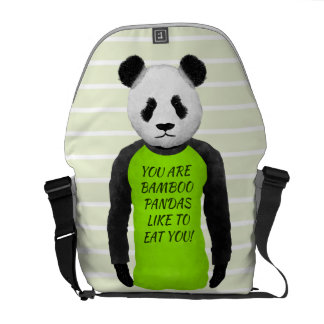 Panda Your Are Bamboo Pandas Like To Eat You Courier Bag