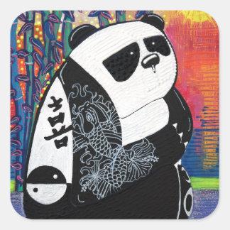 Panda Zen Master Square Sticker