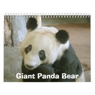 PandaM017 oso de panda gigante Calendario De Pared