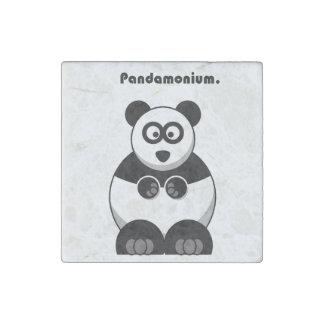 Pandamonium Panda Cartoon Stone Magnet