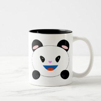 PandaMug, show good fortune..., SMILE! Two-Tone Coffee Mug