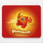 Pandanda Fiery Dragon Mousepad
