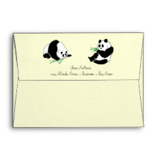 Pandas And Bamboo On An Envelope at Zazzle