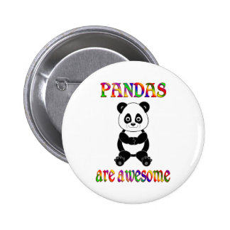 Pandas are Awesome 2 Inch Round Button