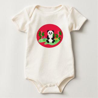 Panda's are cuddly romper