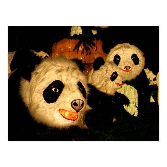 Panda's at the Taipei Lantern Festival 2009 Postcard