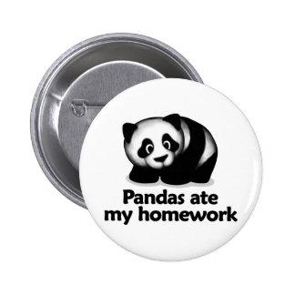 Pandas ate my homework 2 inch round button