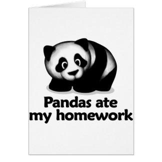 Pandas ate my homework card