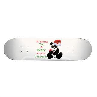 Pandas Beary Merry Christmas Skateboard Deck