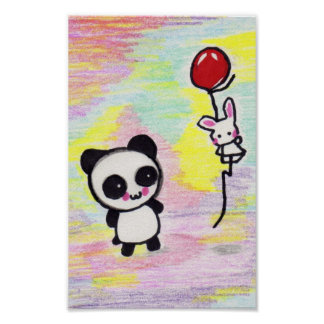 Panda's Bunny Friend Goes Bye-Bye! (Poster) Poster