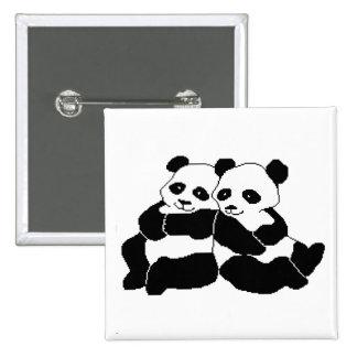 Pandas 2 Inch Square Button