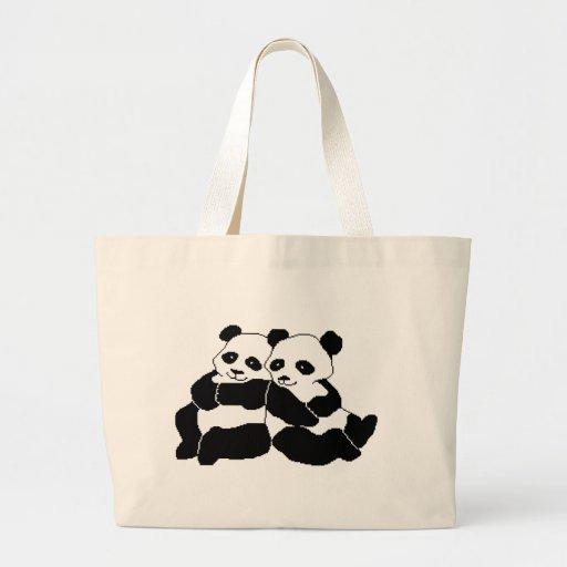Pandas Canvas Bag