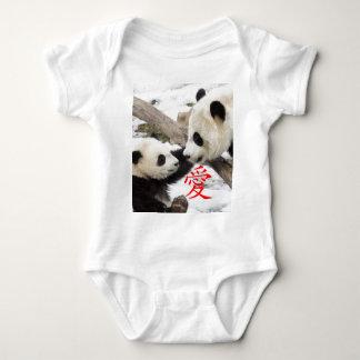 Pandas chinas del amor poleras