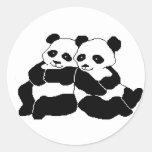 Pandas Classic Round Sticker