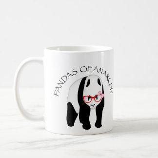 Pandas de la anarquía tazas de café