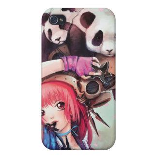 Pandas de Ninja del melocotón iPhone 4/4S Carcasas