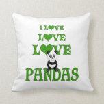 Pandas del amor del amor almohadas