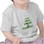 Pandas del amor del amor camiseta