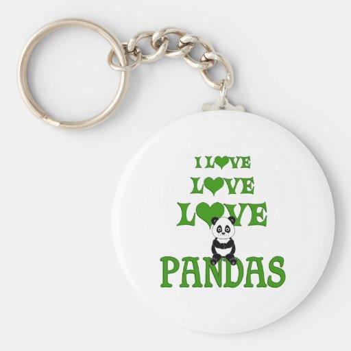 Pandas del amor del amor llavero