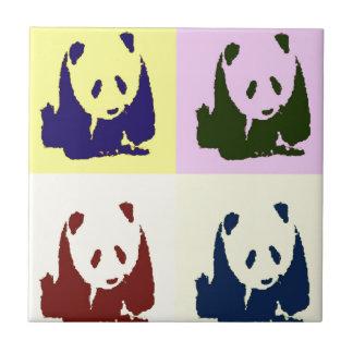 Pandas del bebé del arte pop azulejo cuadrado pequeño