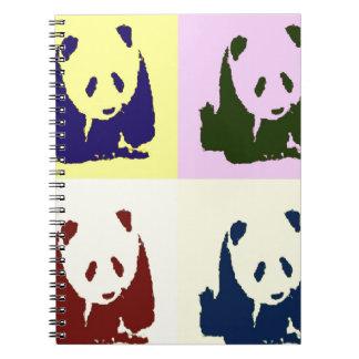 Pandas del bebé del arte pop libreta espiral