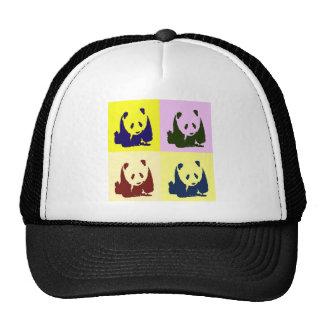 Pandas del bebé del arte pop gorros