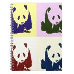 Pandas del bebé del arte pop libretas espirales