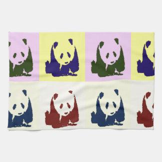 Pandas del bebé del arte pop toalla de mano