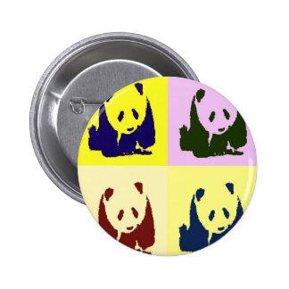 Pandas del bebé del arte pop pin redondo de 2 pulgadas