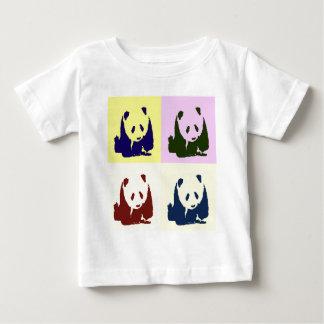 Pandas del bebé del arte pop playeras