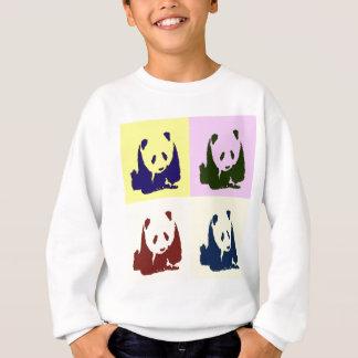 Pandas del bebé del arte pop sudadera