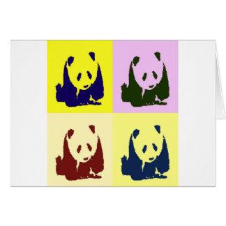 Pandas del bebé del arte pop tarjeta de felicitación