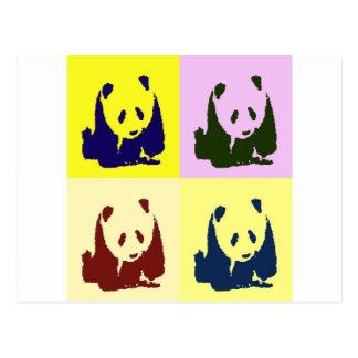 Pandas del bebé del arte pop tarjeta postal