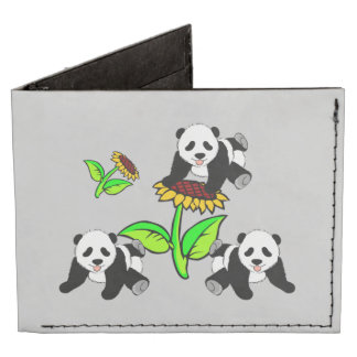 Pandas del girasol billeteras tyvek®