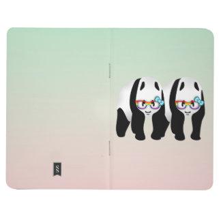 Pandas del inconformista del orgullo gay cuaderno