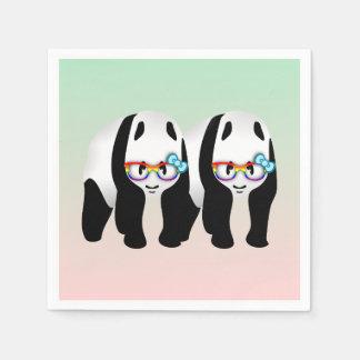 Pandas del inconformista del orgullo gay servilletas de papel