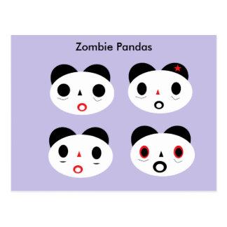 Pandas del zombi postales