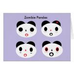 Pandas del zombi tarjeton