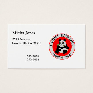 Pandas Don't Even Like Chinese Food Business Card