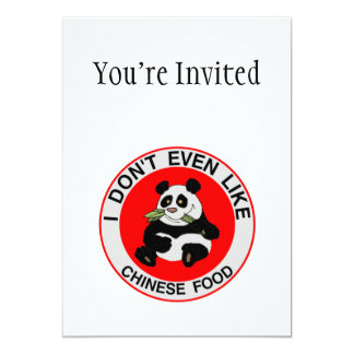 Pandas Don't Even Like Chinese Food Card