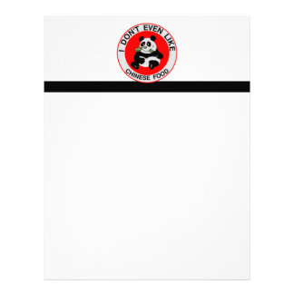 Pandas Don't Even Like Chinese Food Letterhead