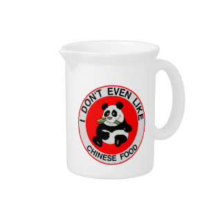 Pandas Don't Even Like Chinese Food Drink Pitcher