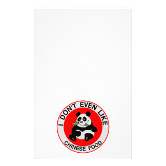 Pandas Don't Even Like Chinese Food Stationery