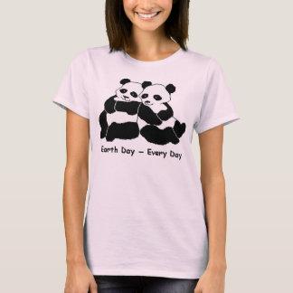 Pandas: Earth Day Every Day Tee Shirt