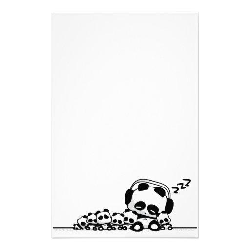 Pandas el dormir papelería de diseño