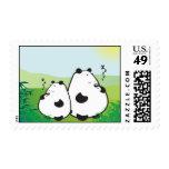 Pandas el dormir sello