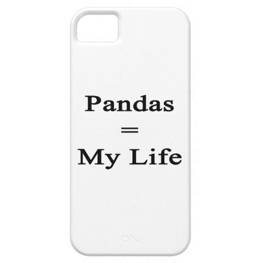Pandas Equal My Life iPhone 5 Cases