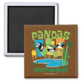Pandas Everywhere Magnet